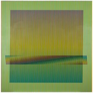Induction Chromatique Denise, 100 x 100 cm, Paris mai 2013.